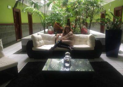 El salón del Hotel del Hierro