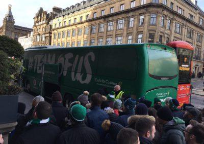 Llegada de Irlanda al estadio