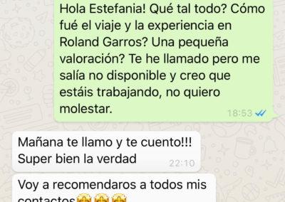 Opinión - Estefania Sanz (Roland Garros 2019)