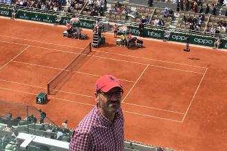 Selfie en la Philippe Chatrier