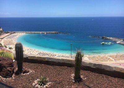 Vistas desde el comedor del Hotel en Gran Canaria