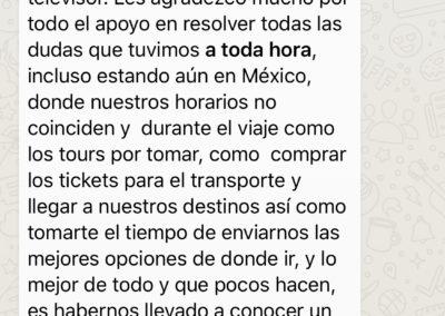 2a parte de la opinión de Ana Laura Trujillo, viajera.