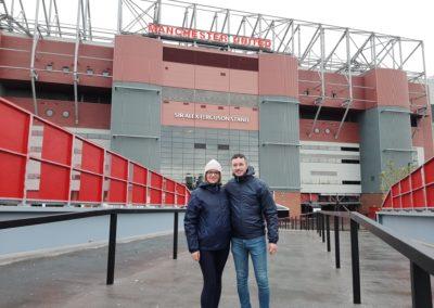 Foto en la Tribuna Sir Alex Ferguson, en Old Trafford